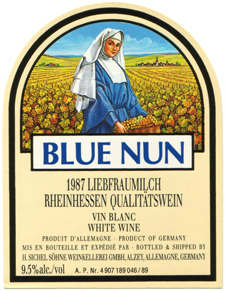 Lable for Blue Nun wine