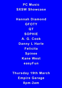 PC Music flier