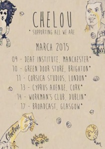 Chelou will be out supporting All We Are and Thurston Moore.