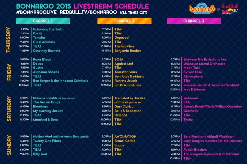 bonnaroo 2015-tv sched