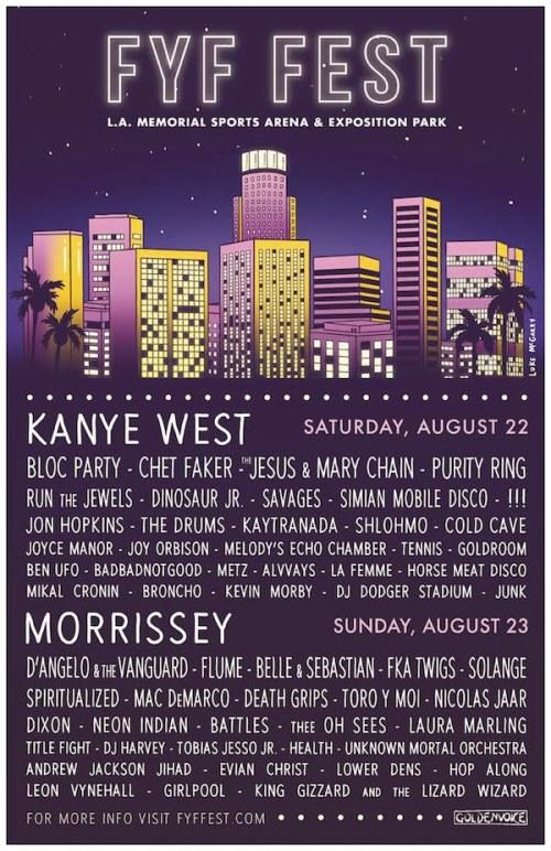 kanye west poster fyf fest Aug 2015